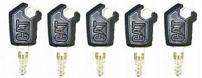 5 Caterpillar Cat Heavy Equipment Ignition Keys 5p8500 New Style Logo