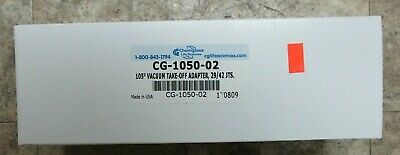 Chemglass Cg-1050-02 105deg. Vacuum Takeoff Adapter 2942jts New