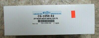 Chemglass Cg-1050-02 105deg. Vacuum Takeoff Adapter 2942jts New