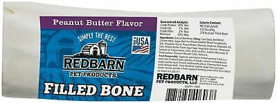 Redbarn Peanut Butter Filled Bone for Dogs Large Large Filled Bone