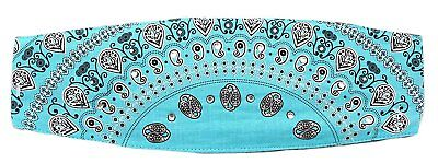 Paisley Turquoise Chop Top Studded Doo Wrap (Turquoise Chop)