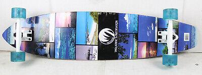 BLEM PARADISE Longboard Complete ISLAND LIFE Kicktail Cruiser Skateboard 9.5 x