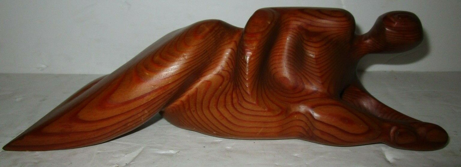 Amazing Hand Made Wood Sculpture A Nude Women Size 11 X 4 X 3 FREE SHIPPING  - $99.99