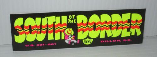 "SOUTH OF THE BORDER ATTRACTION SOUTH CAROLINA APPROX 6""x2"" MINI BUMPER STICKER"