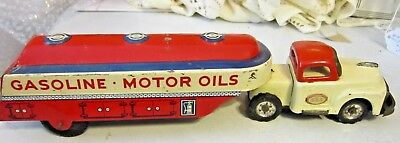 Vintage Friction Press Steel Toy Truck S.S.S. Gasoline-Motor Oils