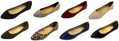 (Shoes 18 Womens Pointy Toe Ballet Flats Shoes )