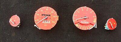 BMW E30 3 SERIES Speedo Clocks Cluster Speedometer Red Dials Gauge