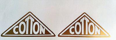 Cotton motorcycle tank stickers pair pre 65 mx scrambler dot greeves twinshock