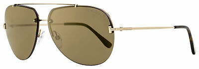 Tom Ford Aviator Sunglasses TF584 Brad-02 28G Gold/Havana 63mm (Tom Ford Sunglass)