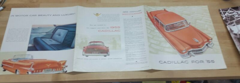 1955 Cadillac foldout brochure