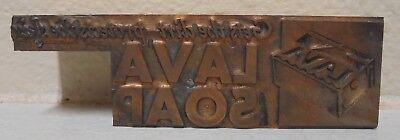 Lava Soap Bar Metal Wood Letterpress Printing Block Type