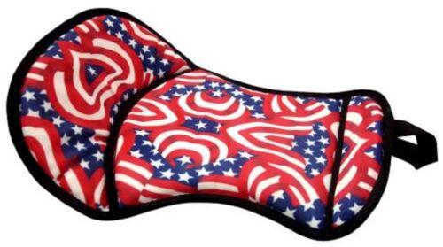"PATRIOTIC RED WHITE & BLUE SEAT SAVER w/ fleece bottom  21.5"" x 12"" horse pad"