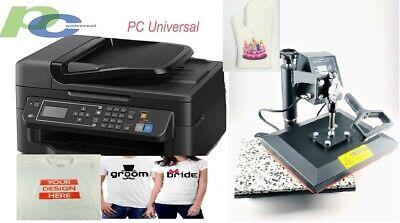 Pc Universal Sublimation Bundle With Printerheat Press For T-shirtcanvas Bags