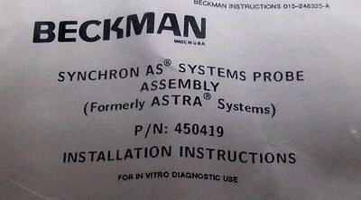 New In Package Beckman 450419 As Systems Pick-up Probe Assembly Bm