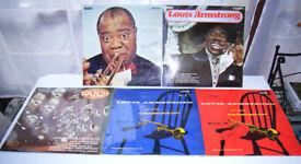 5 x Louis Armstrong vinyl LP album records