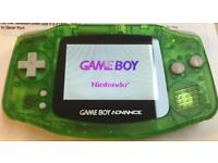 Gameboy Advance with Backlit Screen + Super Card SD