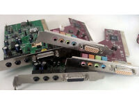 Lan Cards, Sound Cards, FireWire Cards - PCI Cards (Various, Desktop PC, Windows, Computer, Apple)