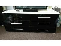 HOUSE OF FRASER RRP£600 Drawer chest of draws sideboard gloss SOLID black & white