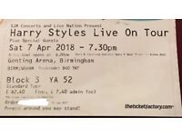 Harry Styles Ticket- 7th April- Genting Arena