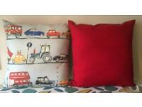 New Handmade 60cm x 60cm Cars Vehicles-Themed Cushion for Christmas Gift - collect from Gosport