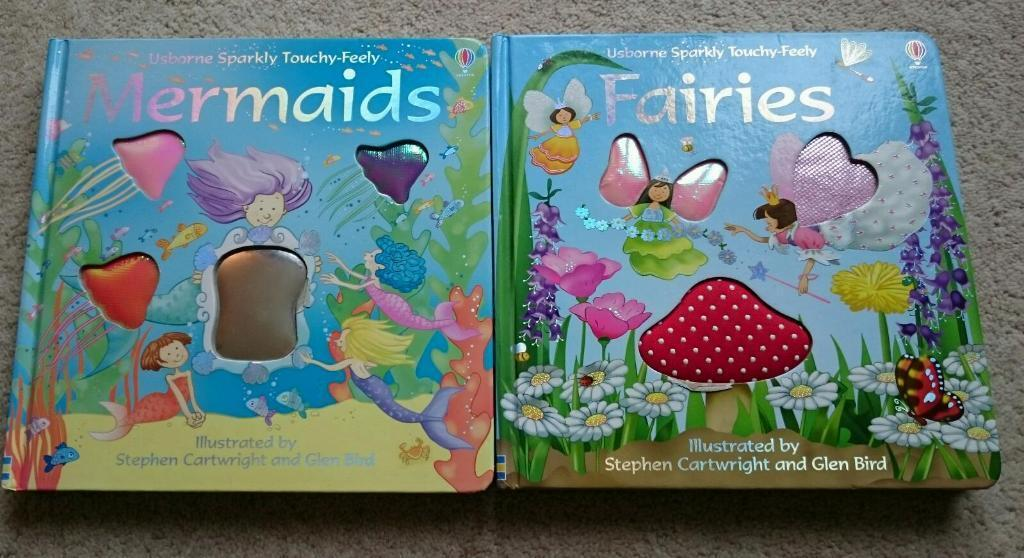 Usborne Sparkly Touchy Books Mermaids And Fairies In