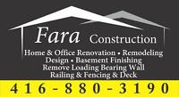 Home & Office Renovation / Basement Finishing / Remodelling