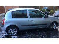 Renault Clio Rush 1.2 silver, Alloys, MOT Till Nov 18, 73500 miles, excellent condition,