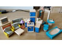 Dolls House Furniture and Dolls - Plan Toys
