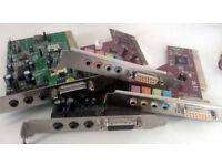 Sound Cards, Lan Cards, FireWire Cards - PCI Cards (Various, Desktop PC, Windows, Apple, Computer)