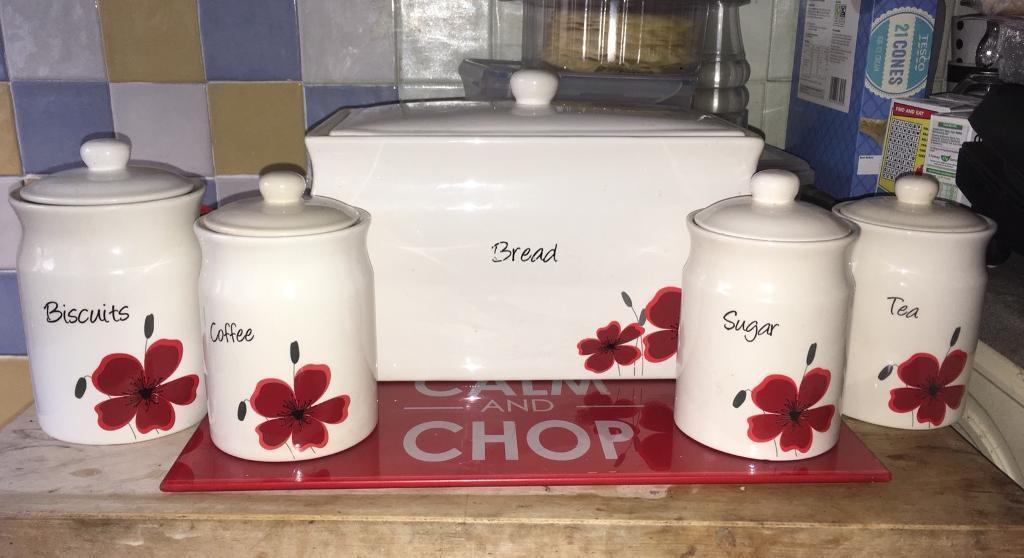 Open To Offers Tea Coffee Sugar Biscuits Bread Bin In Swansea Gumtree