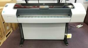 "HP DesignJet T1120 HD Large Format inkjet Color Printer 44"" wide format Plotter - BUY LEASE"
