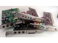 Sound Cards, FireWire Cards, Lan Cards - PCI Cards (Various, Desktop PC, Windows, Computer, Apple)