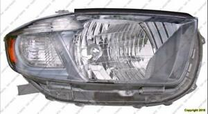 Head Light Passenger Side Sport Model Japan Bulit Toyota Highlander 2008-2010