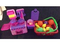 Play food and small Kitchen Play sets £5 the Lot