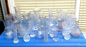 Assortment of 70 vintage-style and miscellaneous vases and jars