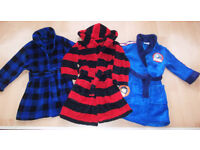 3 Boys Dressing Gowns - Age 2-3 yrs M&S, Dunnes & Thomas the Tank