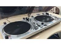 Pair of KAM BDX300 Studio Turntables / Record Decks Mint Condition