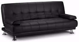 **14-DAY MONEY BACK GUARANTEE!** Venetian Luxury Leather Sofa Bed Sofabed -DELIVERED SAME DAY!