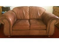 Lovely suede leather sofa