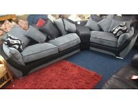 BRAND NEW *** Bentley i corner sofa with built in music system*Leather/Fabric*Black/Grey*