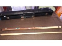 """2 X 57"""" CUES WITH CASES POOL / SNOOKER"""
