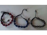 New Shamballa style Bracelet 9 balls/beads Bracelet. various colours