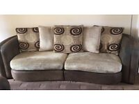 Sofa 3 piece suite 4 Seater, 2 seater, and chair