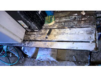Free Wooden Bench/Table metal ends