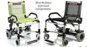 ZINGER FOLDING POWERED CHAIR  - EDMONTON DEALER