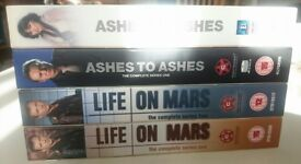 Life on Mars & Ashes to Ashes DVD Boxsets