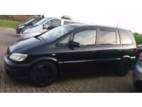 Black Vauxhall Zafira GSi For Sale or Swaps for spares or repair