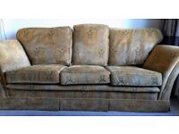 Steed Three Piece Suite. Three seater settee plus two chairs