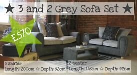 NEW Very Biscuit 3 Seater Sofa and Love Seat, Can Deliver