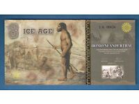 2015 * ICE AGE BANKNOTE * 8 ICE DOLLARS * HOMO NEANDERTHAL * PERFECT UNC.CONDITION